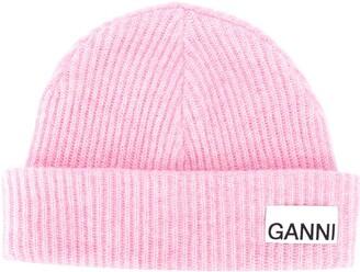 Ganni Ribbed-Knit Hat
