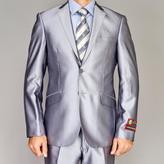 Fiorelli Giorgio Men's Shiny Silver Slim-fit Suit