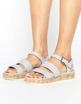 Head Over Heels By Dune Latin Cork Flatform Sandals