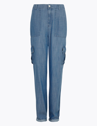 Marks and Spencer Pure Tencel Denim Cargo Trousers