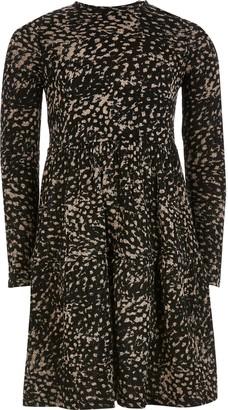 River Island Girls Brown animal printed smock dress
