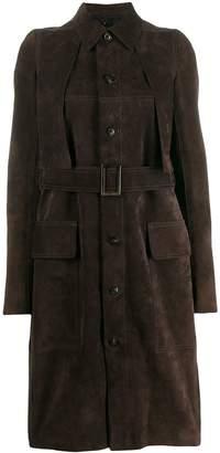 Rick Owens long belted coat
