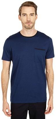 Selected New Poe Short Sleeve O-Neck Tee (Night Sky Bright White) Men's Clothing