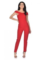 AX Paris Red Cross Off The Shoulder Jumpsuit