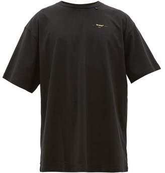 Off-White Off White Diagonal Arrows Oversized Cotton Jersey T Shirt - Mens - Black Yellow