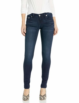 True Religion Women's Stella Mid Rise Dark Indigo Skinny Leg fit Jean