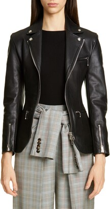 Alexander Wang Ball Chain Leather Moto Jacket