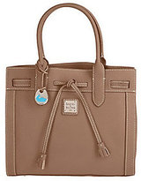 Dooney & Bourke As Is All Weather Leather Medium Tassel Tote