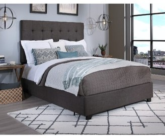 "Greyleighâ""¢ Firman Upholstered Storage Platform Bed Greyleigha Size: Queen, Color: Dark Gray, Number of Storage Drawers: 4"