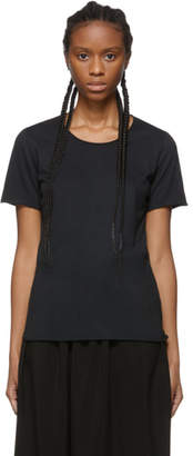 Raquel Allegra Black Sueded Baby Jersey T-Shirt