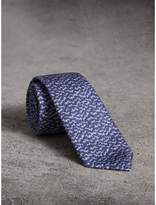 Burberry Slim Cut Ripple Print Silk Tie