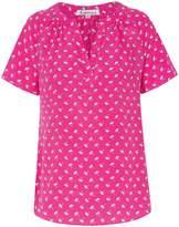 Libelula Liz Top Hot Pink Palm Tree Print