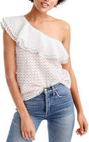 J.Crew Factory J. Crew Factory One-Shoulder Ruffle Eyelet Top