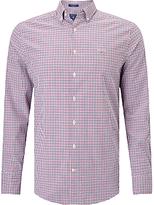 Gant Technical Prep Twill Check Shirt, Raspberry/purple