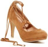 Elegant Footwear Ofina Lace-Up Platform Pump