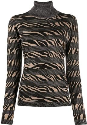 Liu Jo Zebra-Print Roll-Neck Top