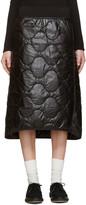 Hyke Black Quilted Nylon Miniskirt