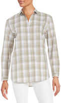 Lafayette 148 New York Gingham Button-Front Shirt