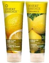 Desert Essence Organics Shampoo + Conditioner Lemon, 8 oz Combo