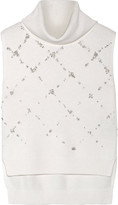 3.1 Phillip Lim Crystal and faux pearl-embellished wool turtleneck sweater