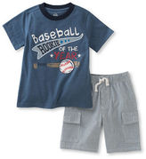 Kids Headquarters Boys 2-7 Two-Piece Tee and Cargo Pants Set