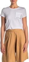 Donna Karan Short Sleeve Crew Neck Pocket Top