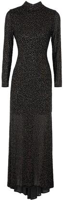 Alice + Olivia Delora black crystal-embellished tulle gown