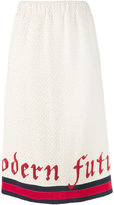 Gucci Modern Future web tweed pencil skirt - women - Cotton/Polyamide - 38