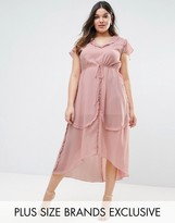 Truly You Ruffle Chiffon Tea Dress