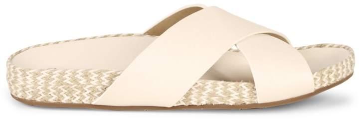 Splendid Sybil Criss-Cross Leather Platform Slides
