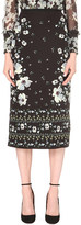 Erdem Maira floral-print silk pencil skirt
