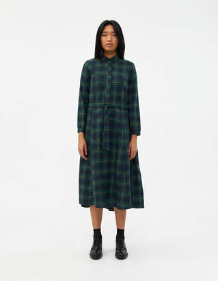 Need NEED Women's Alcot Flannel Dress in Green, Size Small