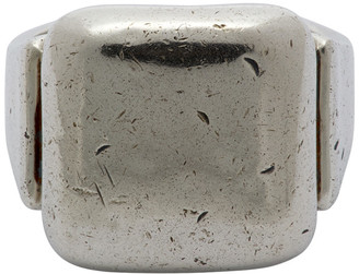 Bottega Veneta Silver Square Signet Ring