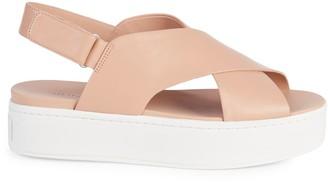Vince Weslan Leather Platform Sandals
