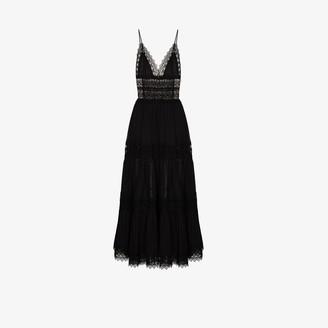 Charo Ruiz Ibiza Cindy lace trim maxi dress