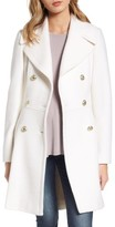 GUESS Women's Double Breasted Wool Blend Coat