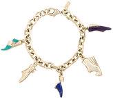 Salvatore Ferragamo shoe emblem charm bracelet