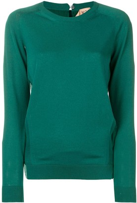 No.21 Long-Sleeve Fitted Sweater