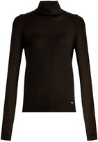 Saint Laurent Roll-neck cashmere and silk-blend sweater