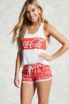 Forever 21 FOREVER 21+ Coca-Cola Print PJ Shorts