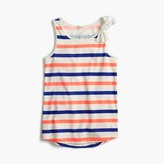 J.Crew Girls' striped bow tank