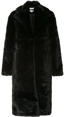 Apparis Siena long faux-fur coat