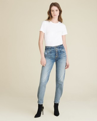 Veronica Beard Nita Straight Peg-Leg Jean
