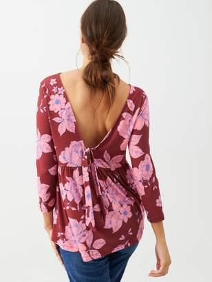Very Floral Tie Back Top - Pink