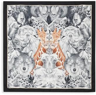 Burberry Animal Portraits Silk Square Scarf
