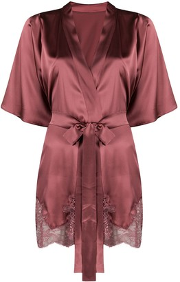 Fleur of England Bisou lace panel robe