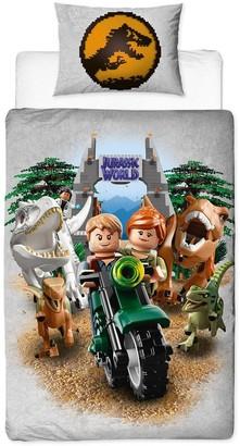 Lego Jurassic World Dinosaur Reversible Single Duvet Cover Set
