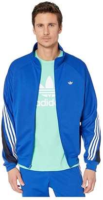 adidas 3-Stripes Wrap Track Top (Team Royal Blue/White) Men's Clothing