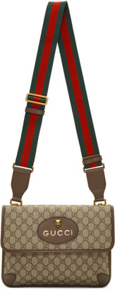 Gucci Beige Neo Vintage Foldover Bag