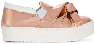 No.21 Folded Detail Sneakers